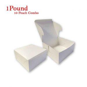 10Peach Folding Cake Box 1 Pound Size