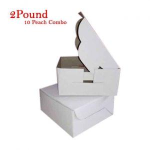 10Peach Folding Cake Box 2 Pound Size