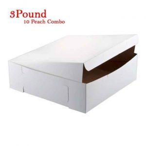 10Peach Folding Cake Box 3 Pound Size
