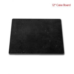 12 inch Square Sape Black cake board