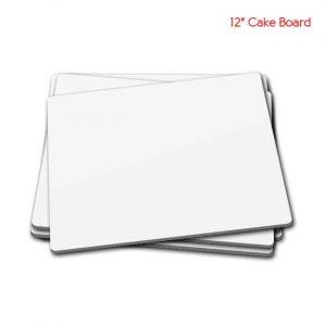 12 inch White cake board 5peaches Combo