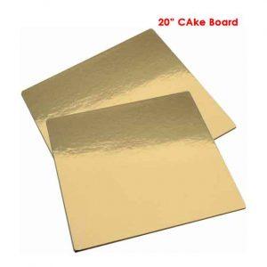 20 inch Square Sape cake board 2peaches Combo