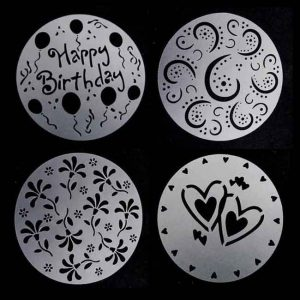 4Pcs/Set Plastic Cake Stencils