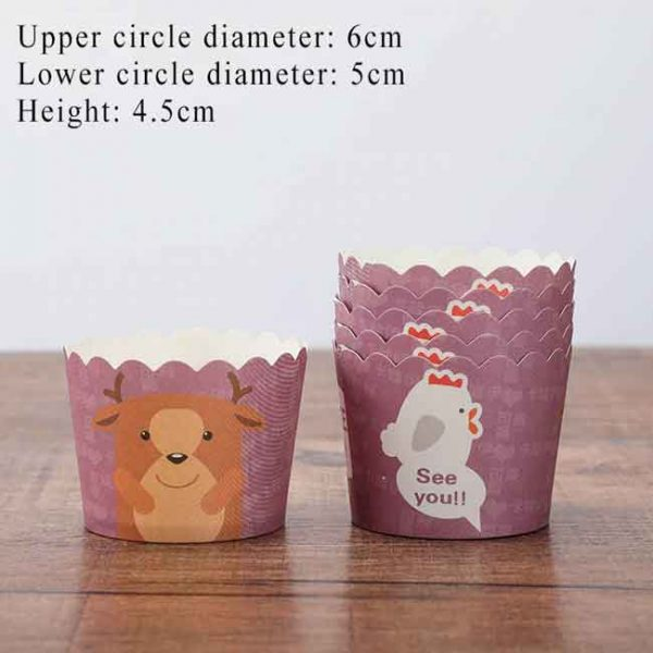 5Pcs Set Cupcake Cases M1
