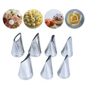7Pcs/Set Cake Decorating Rose Nozzle
