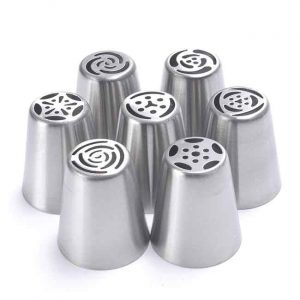 7PCS Stainless Steel Russian Nozzles