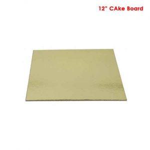 12 inch Square Sape cake board