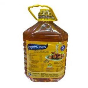 White Gold Rice Bran Oil 5ltr (রাইচ ব্রান তেল)