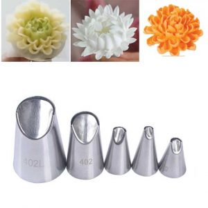 New 5Pcs/Set Stainless Steel Chrysanthemum Nozzles Set