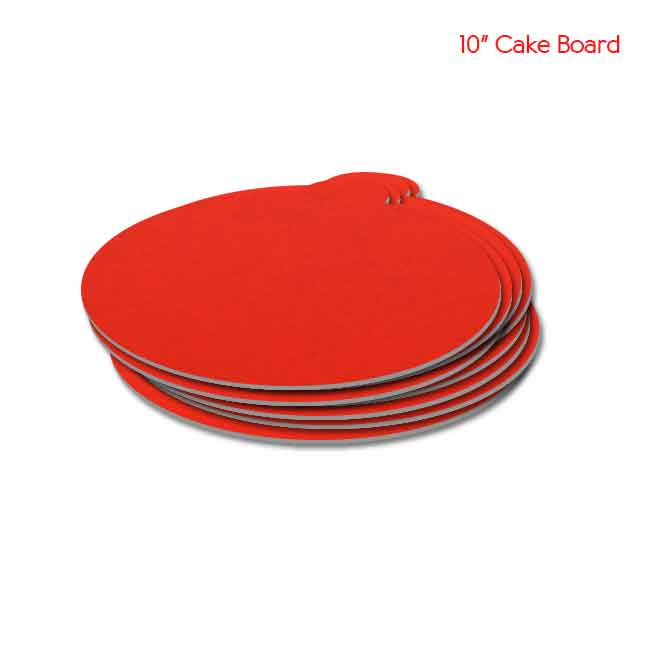 10 inch Red Cake board 10peaches Combo