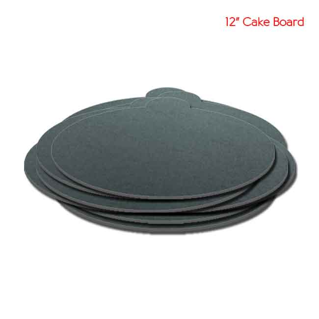 12 inch Black Cake board 10peaches Combo