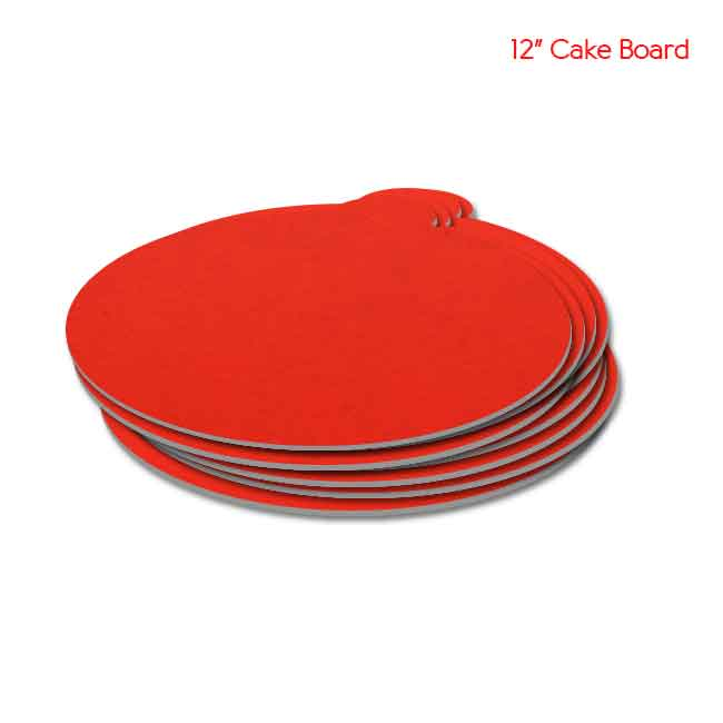 11 inch Red Cake board 10peaches Combo