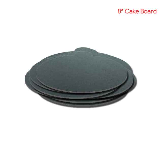 8 inch Black Cake board 10peaches Combo