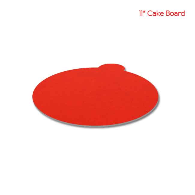 11 inch Red Cake board