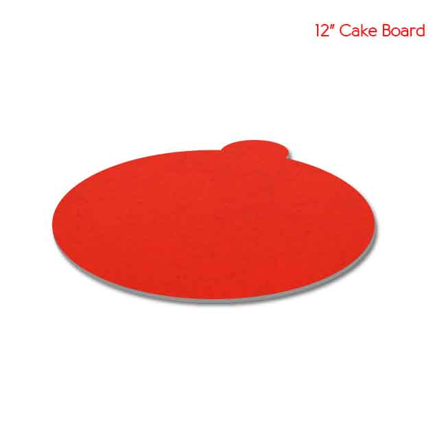 12 inch Red Cake board